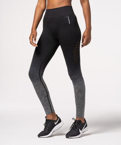 Czarno-szare legginsy bezszwowe Phase