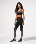 Gray & Black gym Seamless Bra