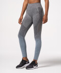 Phase Seamless Leggings, Grey & Navy Ombre