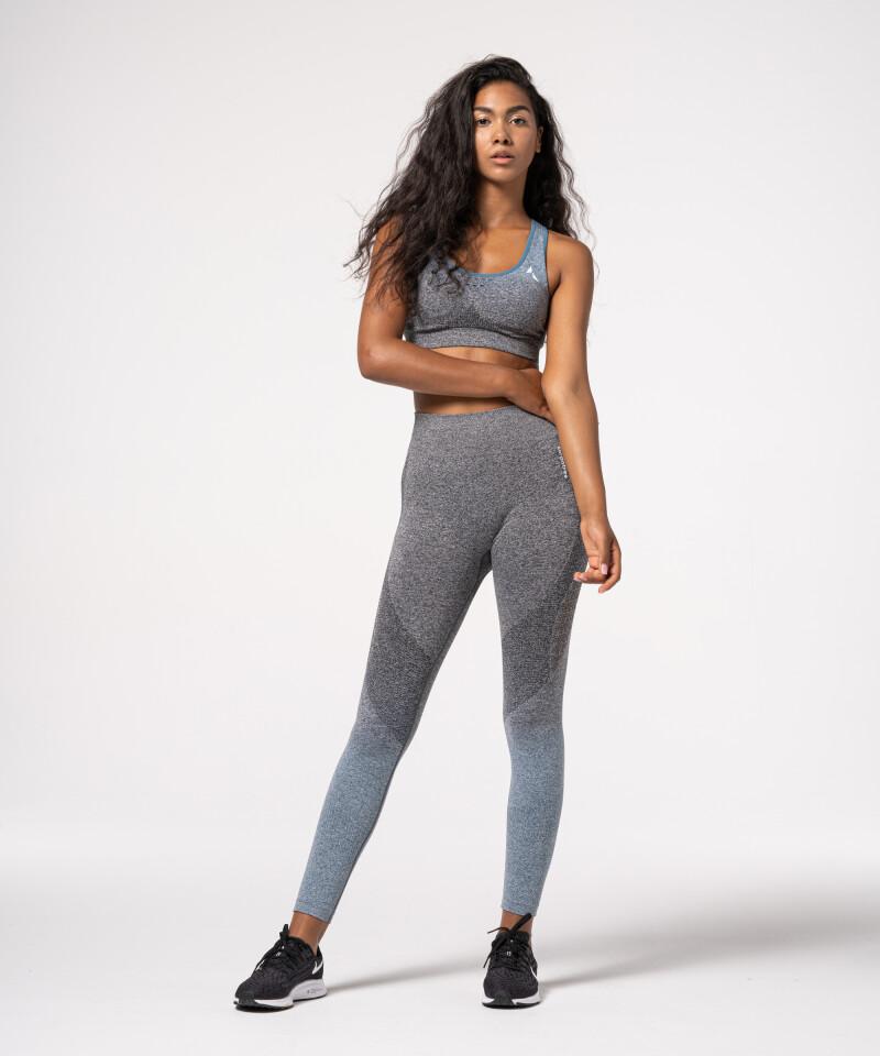 grey & navy gym seamless leggings