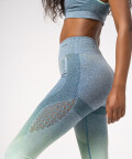 Phase Seamless Leggings, Blue & Mint Ombre