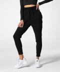 Black sweatpants with elastic cuffs