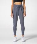 Grey Women's sweatpants with elastic cuffs
