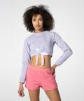 Short Violet Sweatshirt
