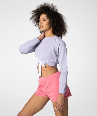 Lila Tilia Cropped Sweatshirt für Damen 1