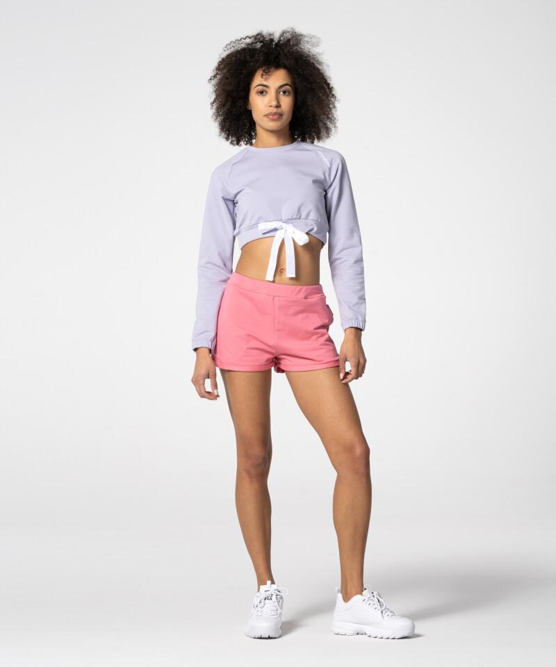 Lavender Sweatshirt with Tape at waist