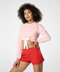 Tilia Cropped Sweatshirt, Pink