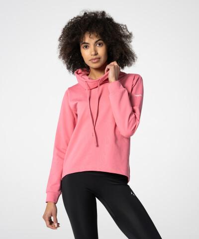 Pinkes Loose Neck Damen Sweatshirt 1