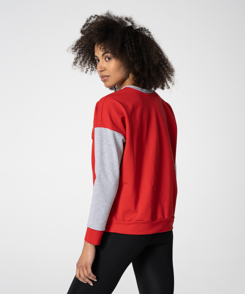 red american high school sweatshirt