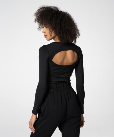 Dámské černé tričko Demi s dlouhým rukávem