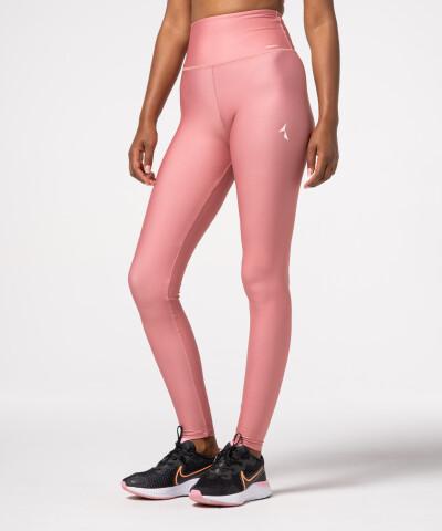 Damen Impression Leggings mit hohem Bund in Pink, einfarbig 1