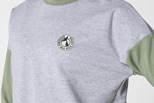 grey cotton sports sweatshirt