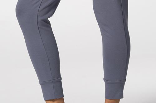 grey sweatpants with elastic cuffs
