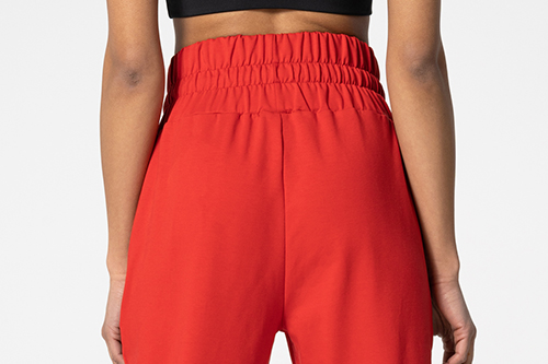 red women's sweatpants