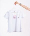 T-shirt White Cow - biała, WowCow