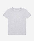 T-shirt damski z okrągłym dekoltem - szary, Basiclo