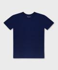 Crew-neck men's t-shirt - navy, Basiclo