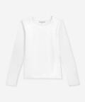 Long-sleeve women's tee - white, Basiclo
