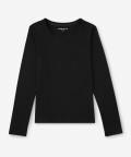 Long-sleeve women's tee - black, Basiclo