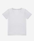 V-neck women's t-shirt - grey, Basiclo