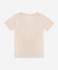 V-neck women's t-shirt - beige, Basiclo