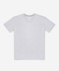 V-neck men's t-shirt - grey, Basiclo
