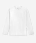 Long-sleeve men's tee - white, Basiclo