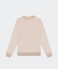 Oversized crew-neck men's sweatshirt - beige, Basiclo