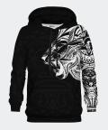 Bluza męska z kapturem Polynesian Lion Black, Bittersweet Paris