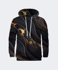 Black and Gold men's hoodie, Mr. Gugu & Miss Go