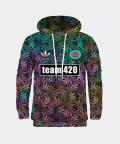 Sweatshirt mit Kapuze für Damen Team 420, Mr. Gugu & Miss Go