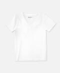 V-neck women's t-shirt - white, Basiclo