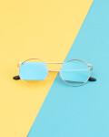 Okulary przeciwsłoneczne z polaryzacją Crystal Blue, Niebieskie Okulary Przeciwsłoneczne