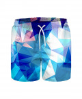 BLUISH POLYGONS Swim Shorts