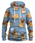 Bluza z kapturem I LOVE PUGS