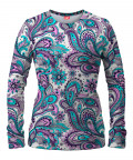 FLORAL BLUE PAISLEY Women Sweater