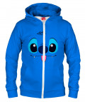 BLUE ALIEN Hoodie Zip Up