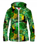 Bluza z zamkiem TOUCAN IN GREEN