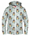 PENGUIN PATTERN Hoodie Zip Up