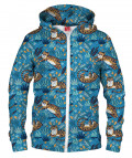 CUTE TIGERS PATTERN Hoodie Zip Up