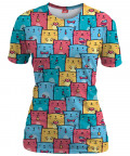 COLORFUL CATS PATTERN T-shirt