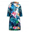 Flowers Jungle Hoodie Dress