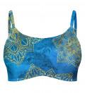 Gold Boho Crop Bikini Top