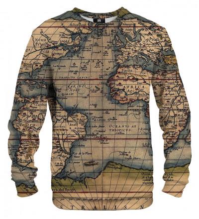 Bluza z mapą świata