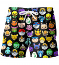 Pokemoji swim shorts