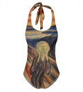 The Scream Open Back Swimsuit