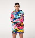 Neon animal Hoodie Oversize Dress