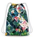 Flowers Jungle Drawstring Bag