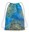Gold boho Drawstring Bag