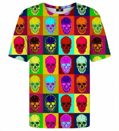 T-shirt ze wzorem Warhol Skulls